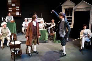 Adams and Dickenson fight